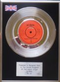 "U2 - 7"" Platinum Disc - Gloria"
